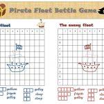 Battleship Printable Game   The Pirate Version! | ***tips & Tricks | Printable Barrier Games Worksheets