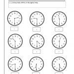 Blank Clock Worksheet To Print | Kids Worksheets Printable | Clock | Printable Clock Worksheets First Grade
