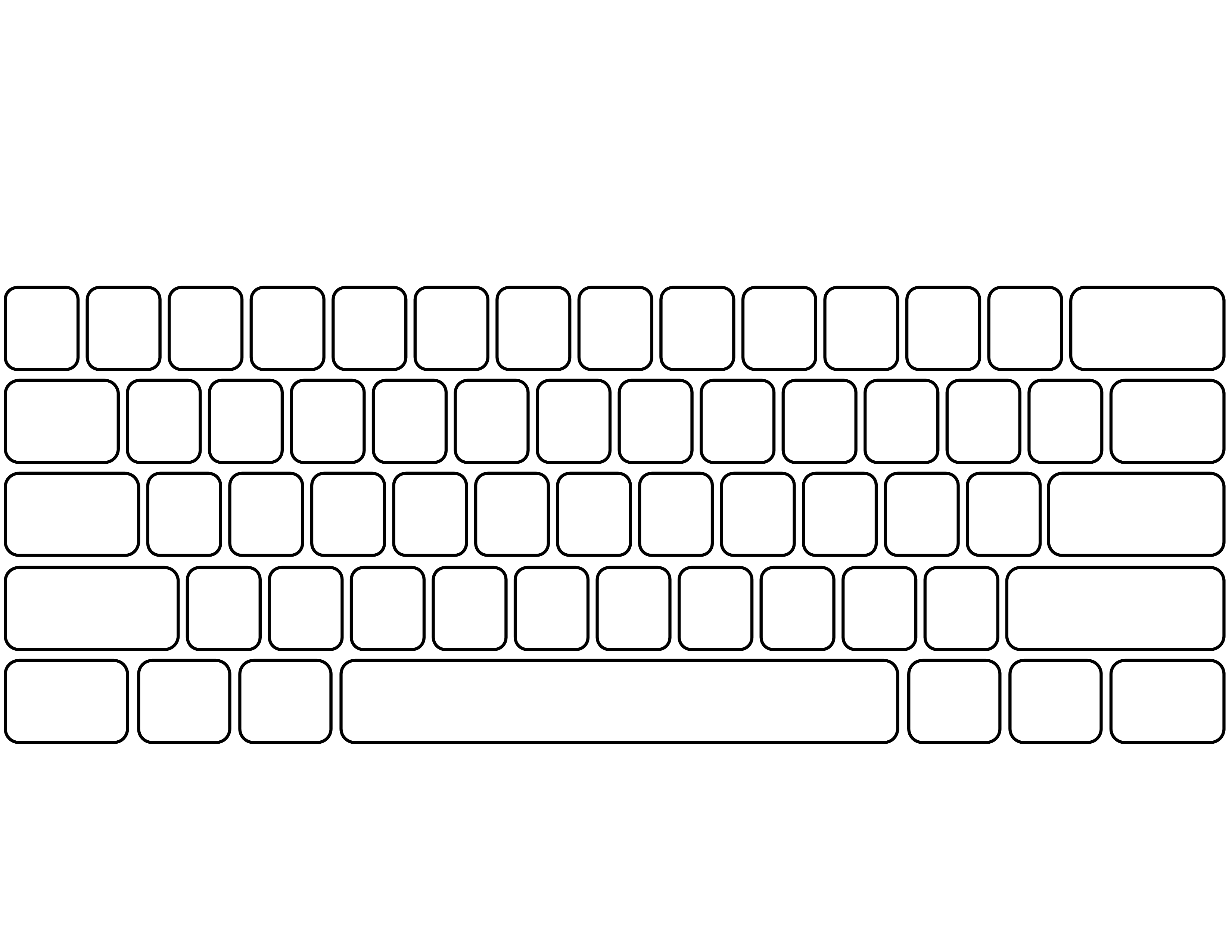 Blank Keyboard Template | Ginger's $1 Tech Shop | Computer Keyboard | Blank Keyboard Worksheet Printable