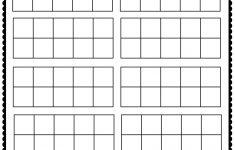 Ten Frame Printable Worksheets