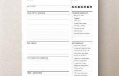 Blog Worksheet Printable