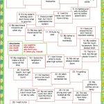 Board Game   Giving Advice Worksheet   Free Esl Printable Worksheets | Giving Advice Printable Worksheets