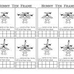 Bunny Time Ten Frame! (Free Printables)   Teaching Heart Blog | Frame Games Printable Worksheets