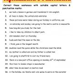 Capitalization & Punctuation Worksheet   Free Esl Printable | Free Printable Worksheets For Punctuation And Capitalization