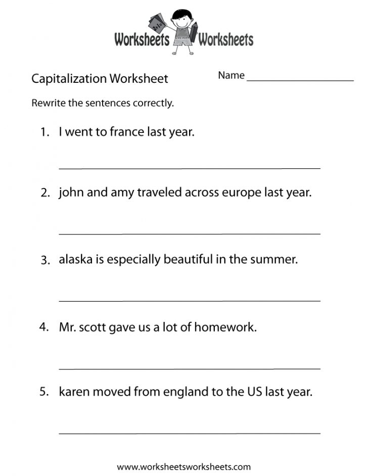 3Rd Grade Grammar Free Printable Worksheets
