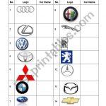 Car Logos Quiz   Esl Worksheetrenda | Printable Logo Quiz Worksheet