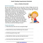 Carlo Or Kindness Rewarded Second Grade Reading Worksheets | Reading | Free Printable Comprehension Worksheets For 5Th Grade