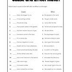 Cause And Effect Template Worksheets | Cause And Effect Worksheets | Free Printable Cause And Effect Worksheets For Third Grade