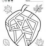 Childrens Printable Activities – With Printables Also Children's | Free Printable Fall Worksheets Kindergarten