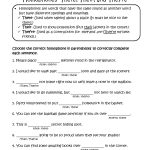 Choosing There, Their, They're Homophones Worksheets   For The   Free Printable Homophones Worksheets For Grade 2