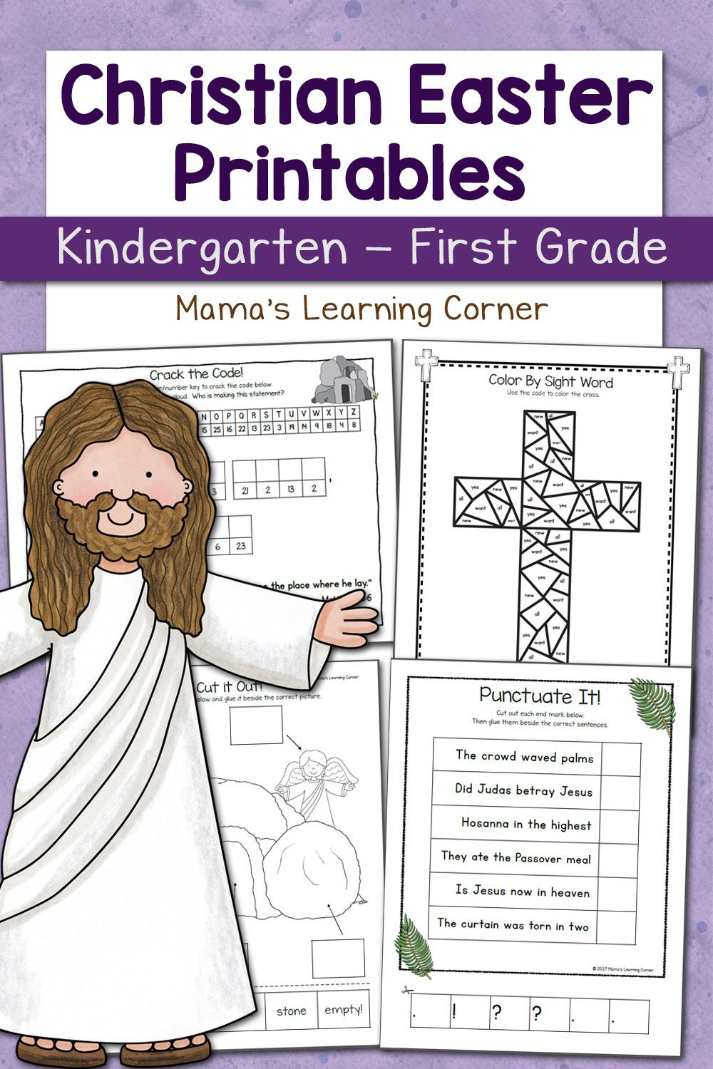Christian Easter Worksheets For Kindergarten And First Grade | Kid | Stations Of The Cross Printable Worksheets