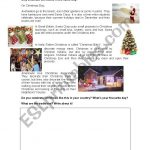 Christmas Around The World   Esl Worksheetbertabas | Christmas Around The World Worksheets Printables