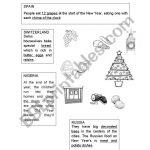 Christmas Around The World   Esl Worksheetjag6 | Christmas Around The World Worksheets Printables