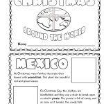 Christmas Around The World Mini Book Activity | My Future In | Christmas Around The World Worksheets Printables