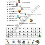 "Christmas ""crack The Code""   Esl Worksheetfrausue   Crack The Code 