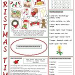 Christmas Time Vocabulary Exercises Worksheet   Free Esl Printable | Christian Christmas Worksheets Printable Free