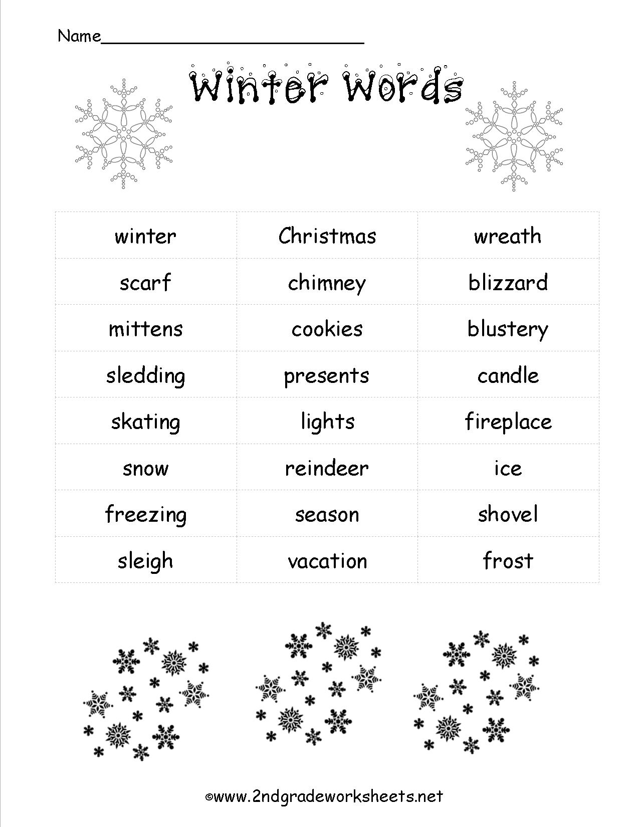Christmas Worksheets And Printouts | Free Printable Holiday Worksheets