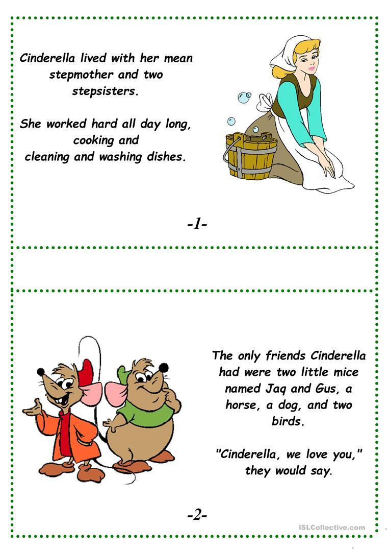 Cinderella (A Fairy Tale) Worksheet - Free Esl Printable Worksheets   Fairy Tales Printable Worksheets