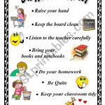 Classroom Rules   Esl Worksheetxyz5 | Free Printable Classroom Rules Worksheets