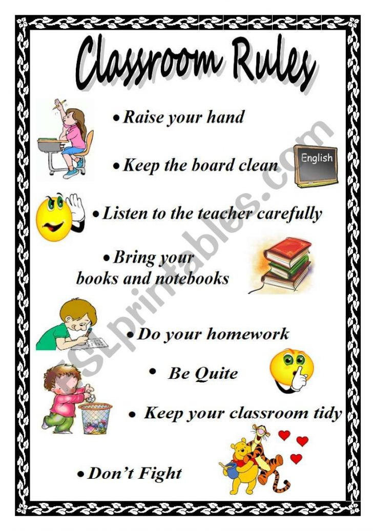 Free Printable Classroom Rules Worksheets