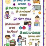 Classroom Rules Poster Worksheet   Free Esl Printable Worksheets | Free Printable Classroom Rules Worksheets