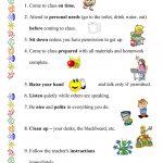 Classroom Rules Worksheet   Free Esl Printable Worksheets Made | Free Printable Classroom Rules Worksheets