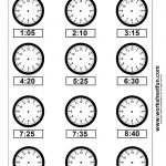 Clock Telling Time Worksheet Printable | Worksheetfun   Free | Free Printable Telling Time Worksheets