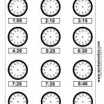 Clock Telling Time Worksheet Printable | Worksheetfun   Free | Kindergarten Clock Worksheet Printables