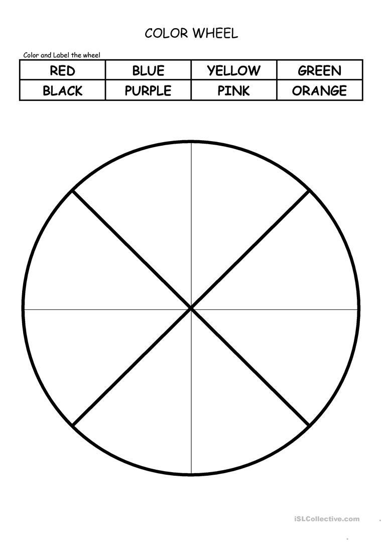 Color Wheel Worksheet - Free Esl Printable Worksheets Madeteachers | Printable Color Wheel Worksheet
