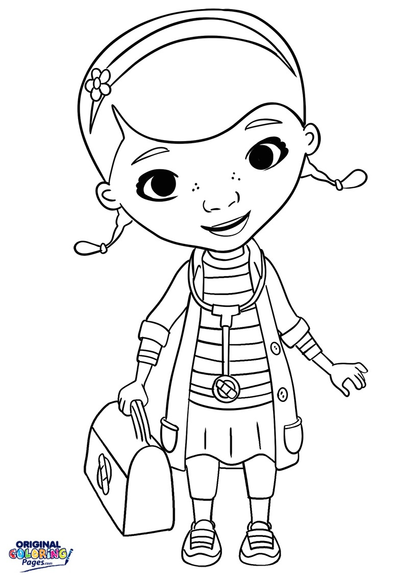 Coloring Page ~ Coloring Page Fascinating Doc Mcstuffin Pages Free | Doc Mcstuffins Printable Worksheets