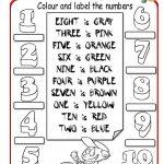 Colour The Numbers Worksheet   Free Esl Printable Worksheets Made | Numbers Printable Worksheets
