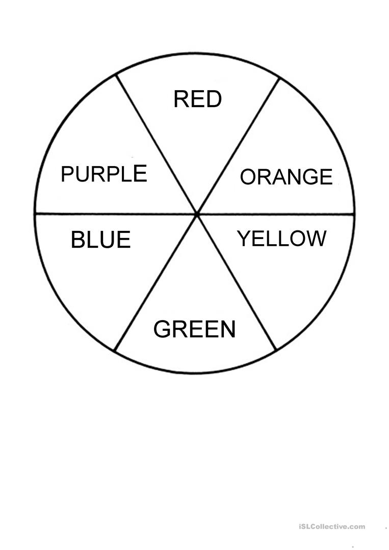 Colour Wheel Worksheet - Free Esl Printable Worksheets Madeteachers | Printable Color Wheel Worksheet