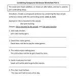 Combining Compound Sentences Worksheet Part 1 | Worksheets | Simple | Free Printable Types Of Sentences Worksheets
