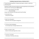 Combining With Compound Sentences Worksheet Part 1 | Sentencessimple | Free Printable Worksheets On Simple Compound And Complex Sentences
