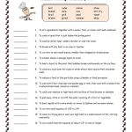 Common Cooking Vocabulary #2 Worksheet   Free Esl Printable | Free Printable Cooking Worksheets