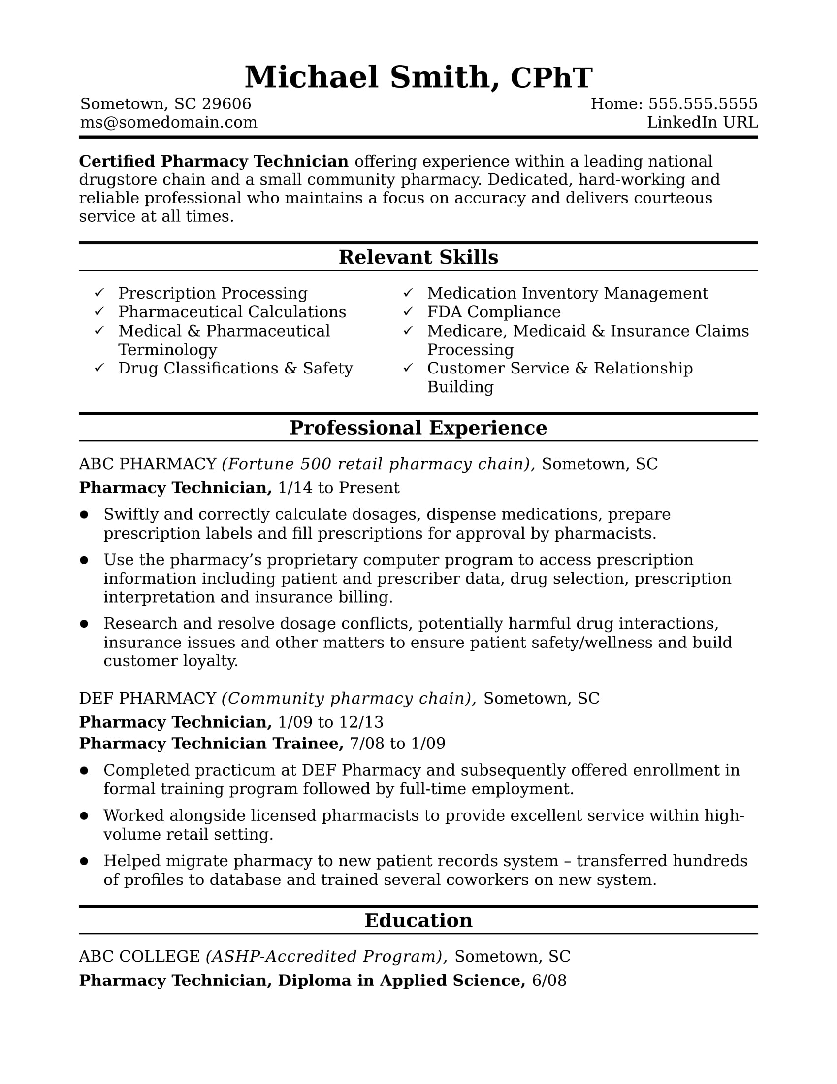 Community Pharmacist Resumes - Koran.sticken.co | Printable Pharmacy Technician Math Worksheets