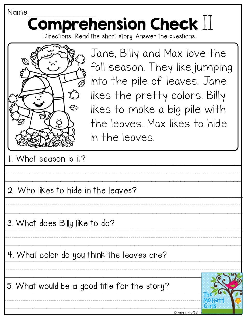 Comprehension Checks And So Many More Useful Printables! | Test Of | Printable Comprehension Worksheets For Grade 3