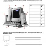 Computer Parts And Their Functions Worksheet   Free Esl Printable   Parts Of A Computer Worksheet Printable