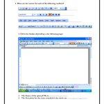 Computer Skills Worksheets   Computer Skills 1 Microsoft Word   Parts Of A Computer Worksheet Printable