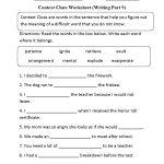 Context Clues Worksheet Writing Part 9 Intermediate | Context Clues | Free Printable Context Clues Worksheets