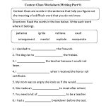 Context Clues Worksheet Writing Part 9 Intermediate | Context Clues | Grade 7 Vocabulary Worksheets Printable