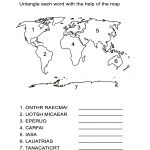 Continents Worksheet: Can You Spell Each Continent Correctly?   All Esl | Continents Worksheet Printable