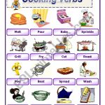 Cooking Verbs 2   Esl Worksheetawsana | Cooking Verbs Printable Worksheets