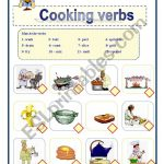 Cooking Verbs   Esl Worksheetawsana | Cooking Verbs Printable Worksheets