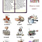 Cooking Verbs Worksheet   Free Esl Printable Worksheets Madeteachers | Cooking Verbs Printable Worksheets
