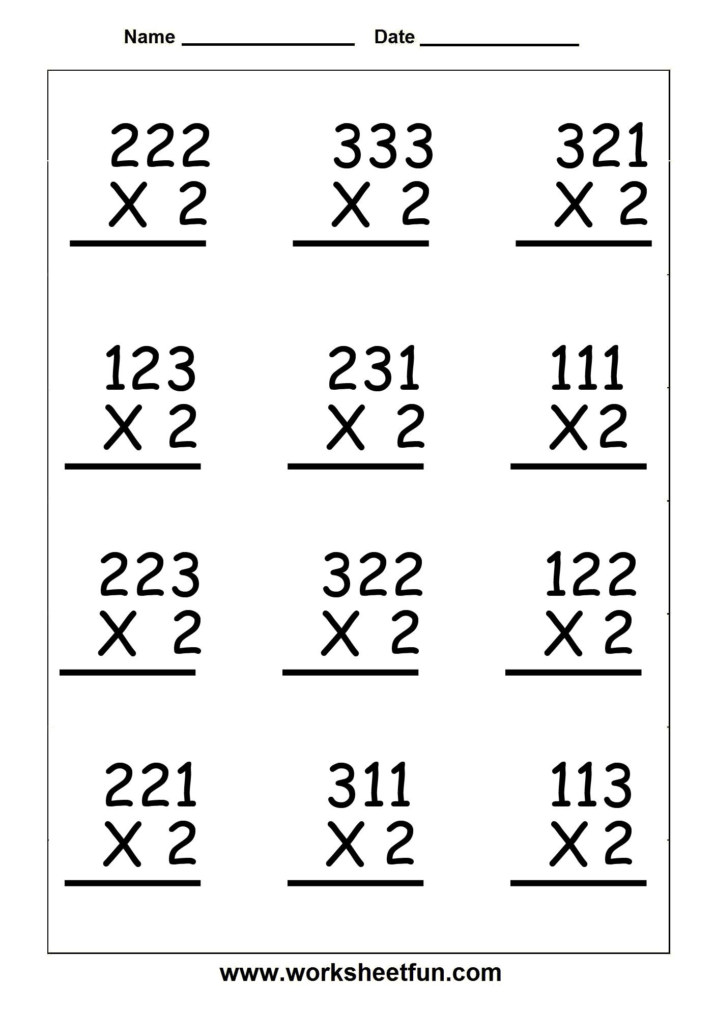 Copy Of Single Digit Multiplication Worksheets - Lessons - Tes Teach | 3 Digit Multiplication Worksheets Printable