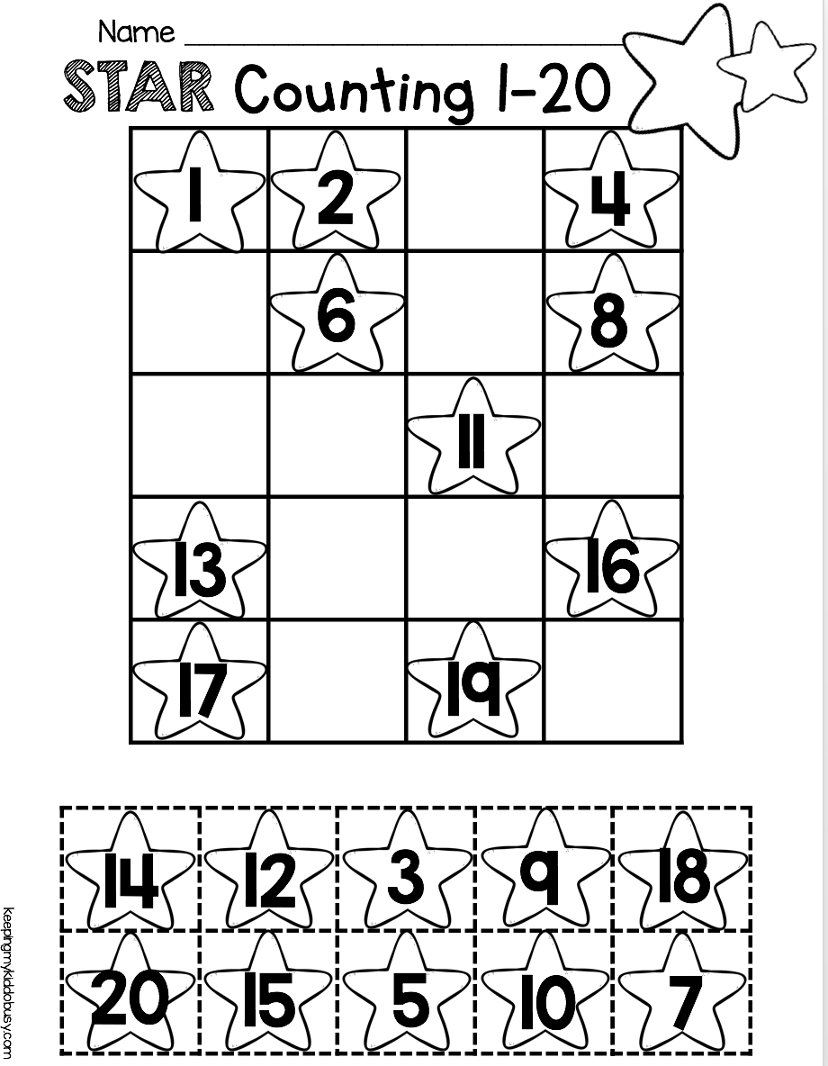 Counting And Cardinality Freebies   Kinder Math   Kindergarten Math   Free Printable Counting Worksheets 1 20