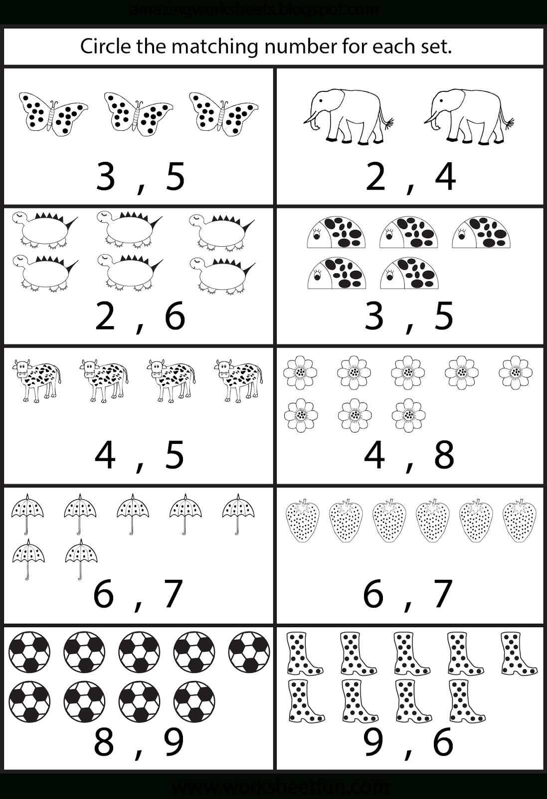 Counting Worksheets For Kindergarten … | Learning | Free … | Free Printable Worksheets For Preschool Teachers