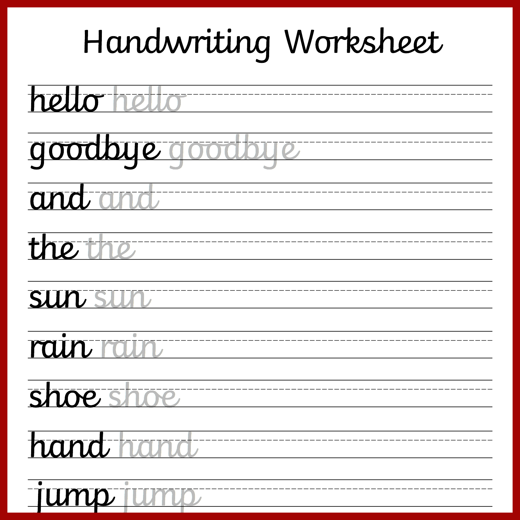 Cursive Handwriting Worksheets – Free Printable! ⋆ Mama Geek - Free | Free Printable Handwriting Worksheets