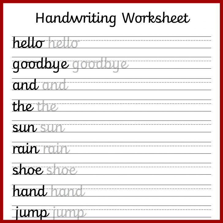 Printable Cursive Worksheets